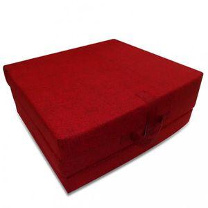MATELAS Matelas Matelas en mousse pliable rouge 190 x 70 x
