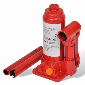 CRIC P154 Cric bouteille hydraulique 2 tonnes Rouge