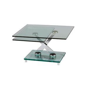 TABLE BASSE Table basse rectangulaire modulable acier plateau