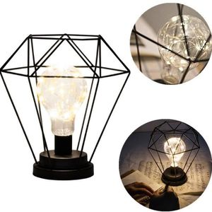 Décors de table Iron Bulb Night Light, Lampe de Chevet Nordique de