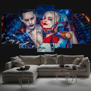 TABLEAU - TOILE 5Pcs Suicide Squad The Joker and Harley Quinn Jare