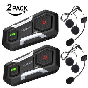 INTERCOM MOTO SUAOKI T10 Talkie-walkie Bluetooth 3.0 Casque de M