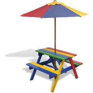 table de pique nique 2 en 1 table de pique nique en quatre couleurs - Table Jardin Bois Enfant