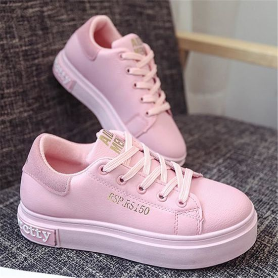 Femmes Sneakers Loisirs Chaussures Confortable Mode Antidérapant Beau Chaussures Confortable Chaussures Rose Rose - Achat / Vente basket 5fad76