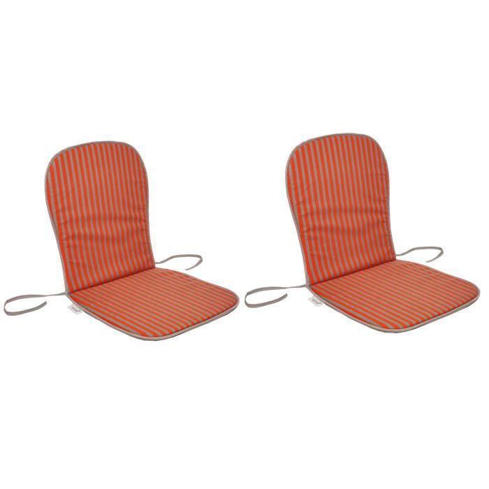 Dimensions : 80x40 cm - Coloris : orange et gris rayé - Enveloppe : 50% coton et 50% polyesterCOUSSIN D'EXTERIEUR - COUSSIN DE BAIN DE SOLEIL - COUSSIN DE CHAISE DE JARDIN