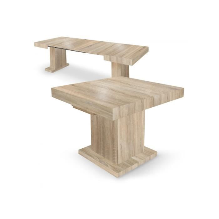 309983ad1ccb48 Table extensible Mustang Chêne Clair - Achat   Vente console ...