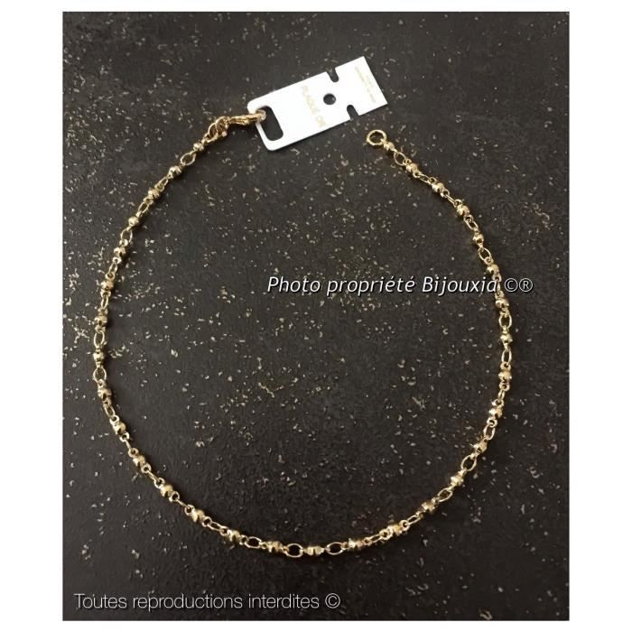 Chaine De Cheville Boules Femme En Plaqué Argent Neuf Fashion Jewelry Anklets