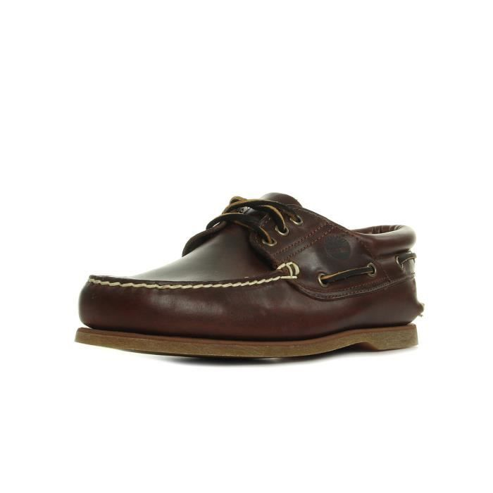d205d6e1f7c Chaussures Timberland Classic Boat 3 Eye Padded Collar Marron Marron ...