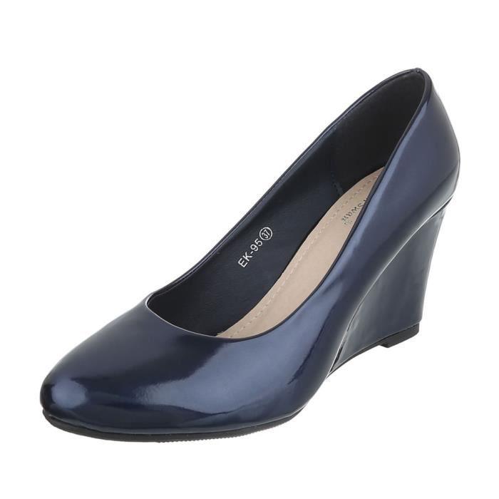 Semelle Chaussures Foncé Fonc rouge Bleu Femme 41 noir Escarpin Compense beige w6rqwEg
