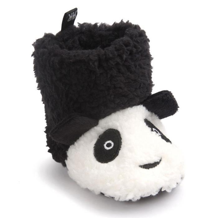 En Bébé De Neige Mois D'hiver 0 Garçon Premier Panda Pas Bottes 12 16 Coton Chaussure Et Noir 12 6 Fille IxwqE7g