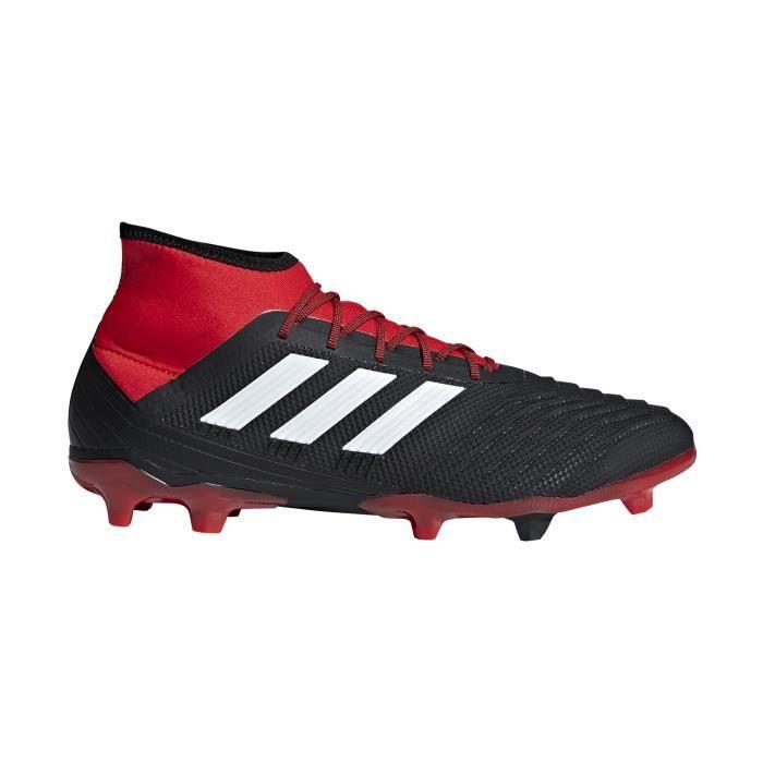 Rouge Football Predator Chaussures Adidas Fg 18 2 Noir CsQthdr