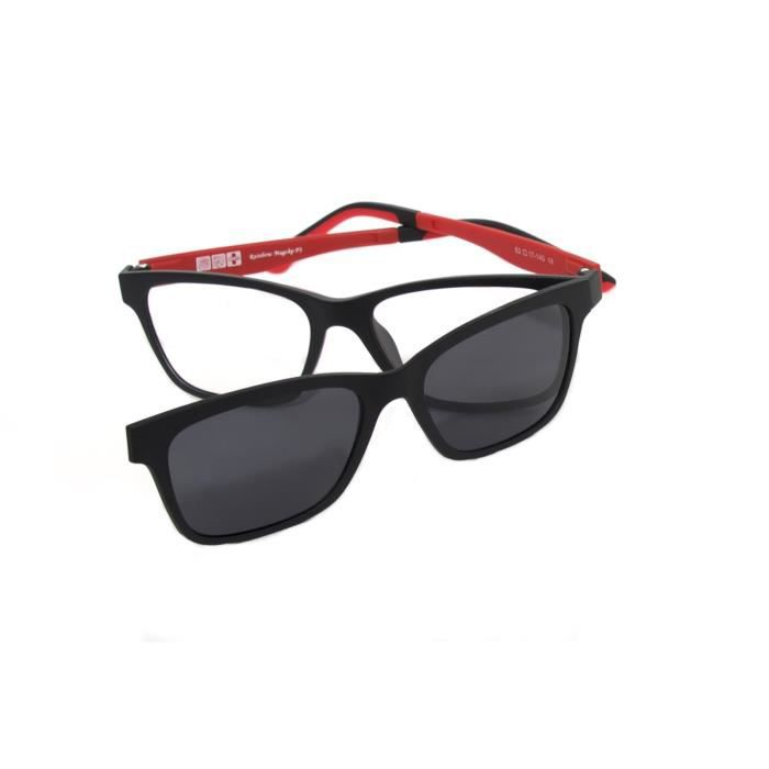 7b49936315b Lunettes optique Rainbow MagClip® Monture de lunettes optique Lunettes de  soleil Clip-on Magnétique Polarisée RMCRED-Grey