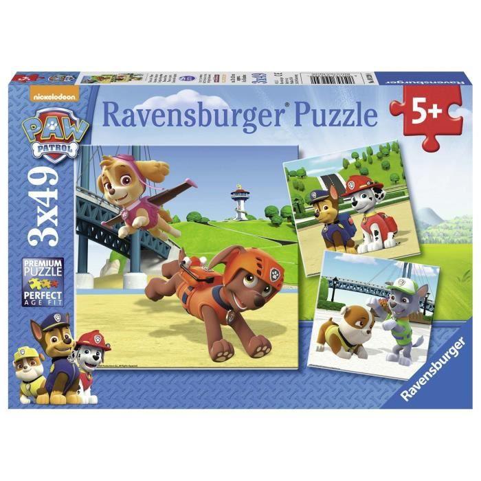 PUZZLE Ravensburger - 9239 - Lot de 3 Puzzles - Pat Patro