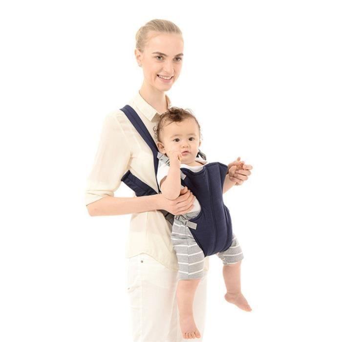 Porte bébé bleu foncé pour 1-4 âge Ergonomique respirant Mesh Sling sac à  dos kangourou transporteur Autre 03ead876877