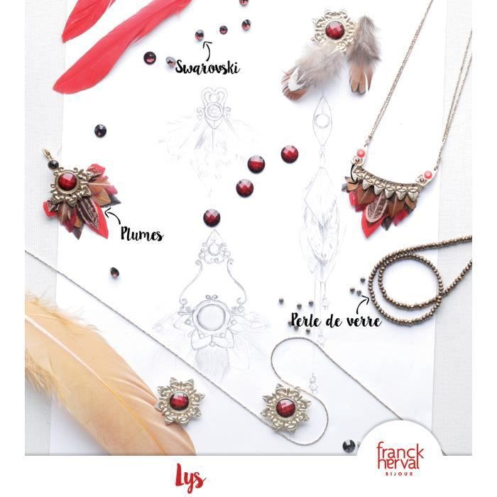 Lys : Collier plastron - Franck Herval Rouge