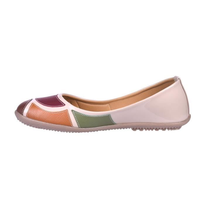 Easy21 Casual Flats Ballet Fashion Shoes Faux Leather M0N42 Taille-36 AkLTrV