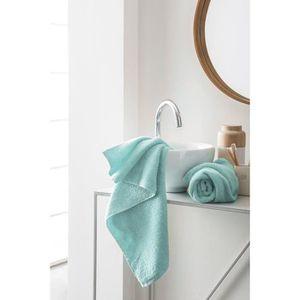 FINLANDEK Set de 2 Serviettes de toilette KYLPY 50x100 cm vert menthe