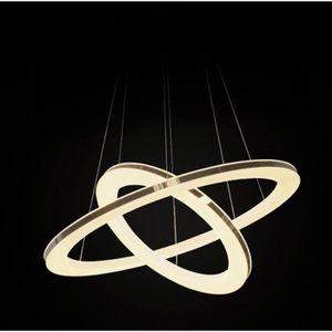 LUSTRE ET SUSPENSION Simple double anneau moderne lustre led salle à ma