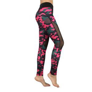 PANTALON DE SPORT Pantalon de yoga femme sport sexy avec mousseline fd25b7f6306