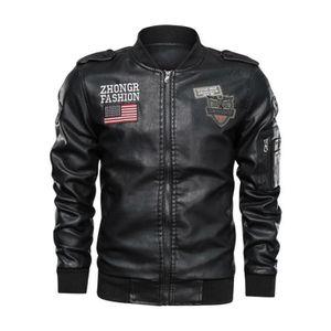 Veste Femme Noir Faux Cuir Fourrure en cuir zippée Veste de motard Lot Taille 8-16 Pull