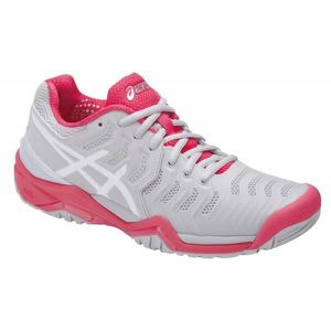 a2a6d03d5cb9f CHAUSSURES DE TENNIS Chaussures ASICS Junior Gel-Resolution 7 GS Gris