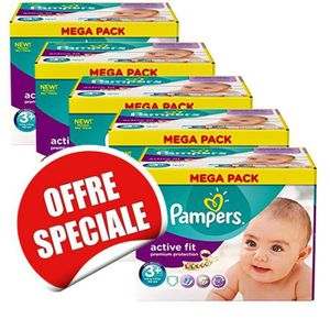 COUCHE Maxi Giga Pack Jumeaux de 560 Couches Pampers Acti