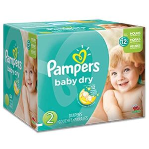 COUCHE 368 Couches Pampers Baby Dry taille 2