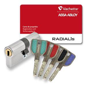 SERRURE - BARILLET Vachette - 202682 - Cylindre 2 entrées Radialis -