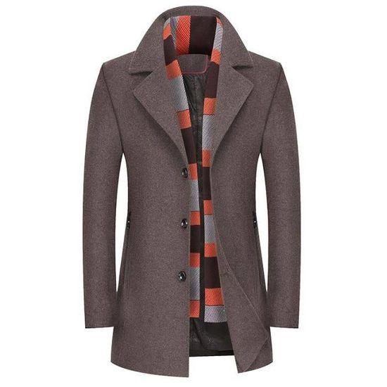 Élégant En Automne Slim Laine Manteau Caban Fit Vêtements Homme qUnwX57p7
