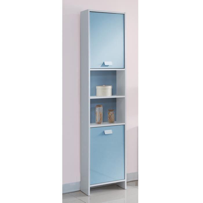 top colonne de salle de bain l 40 cm blanc et bleu ForColonne De Salle De Bain 40 Cm