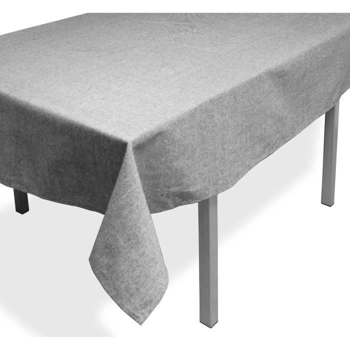 SOLEIL D'OCRE Nappe rectangle Jean's - 140x240 cm - Gris