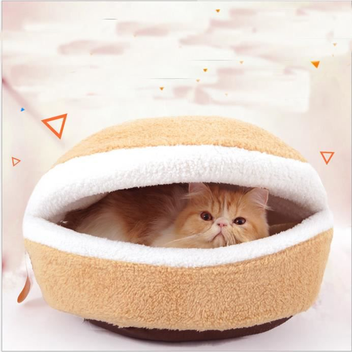 Hamburger De Forme Chat Chien Chaud Coupe-vent Amovible Animal House-gsy60726607_3780