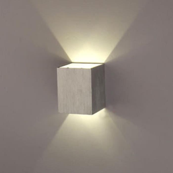 Un Applique Murale 3W Led Lampe Carrée Murale Pour Chambre
