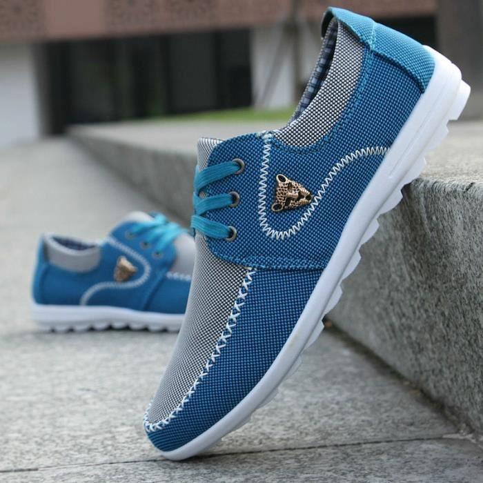 Chaussures de course running basket Mode Suédé Cuir Sneakers, Chaussures Décontractées de Homme