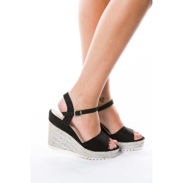 Sandales compensées NOIR110F-680-1_24/17_NOIR