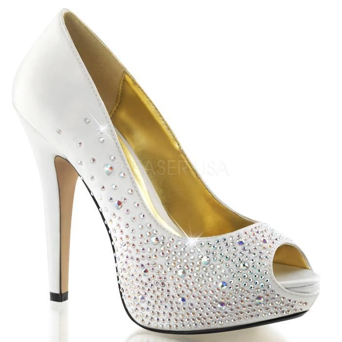 Fabulicious LOLITA-06 5 Inch Heel, 1 Inch PF Peep Toe Pump w/Multi Sized RS on Vamp