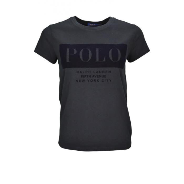 T-shirt Ralph Lauren POLO noir pour femme - Taille  XL - Couleur  Noir 33b09fbb80f