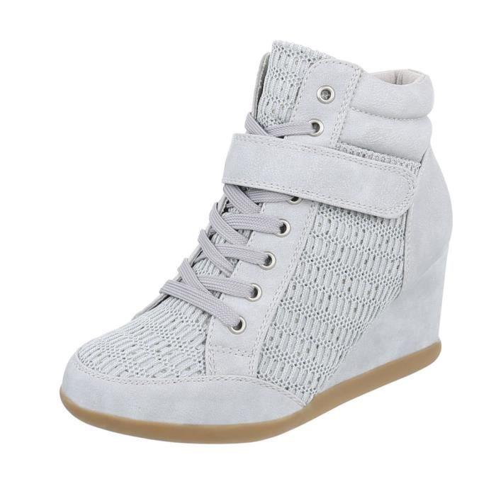 Sneakers pour femmes talon compensé   Sneaker Wedges   talon compensé chaussures   Wedge sneaker à lacets   Bottines talon compensé