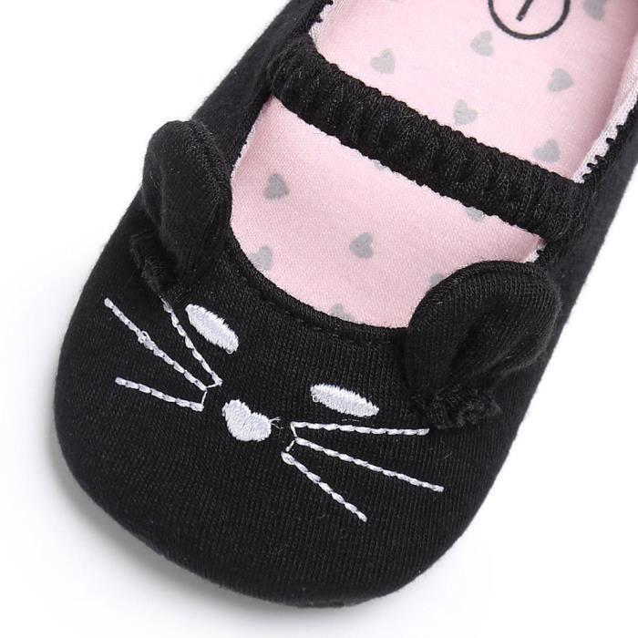 Botte Bébé Nourrisson Enfants Garçon Fille Chaussures Souples Chat Modèle Lit Nouveau-né Chaussures@noirhm
