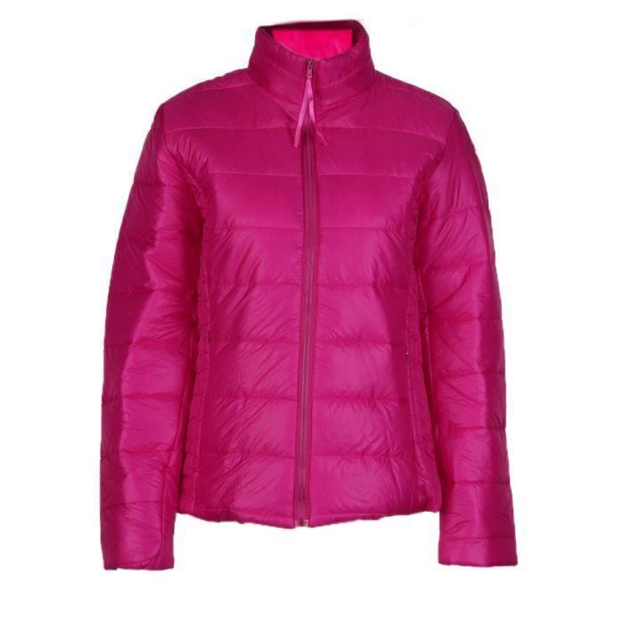 Base Décontractées Vestes Automne Manteau Femme Hiver rose Doudoune Femmes De Vif Veste Mode WwxRt0Wvq8