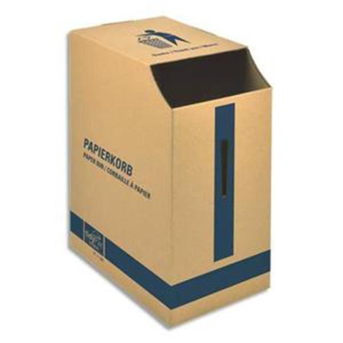 corbeille papier en carton ondul brun capac achat vente casier pour meuble papier. Black Bedroom Furniture Sets. Home Design Ideas
