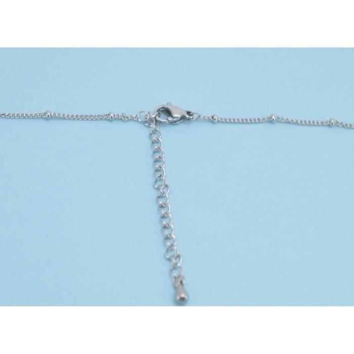 Craze péridot brut 4 broches en argent sterling collier simple XL6X7