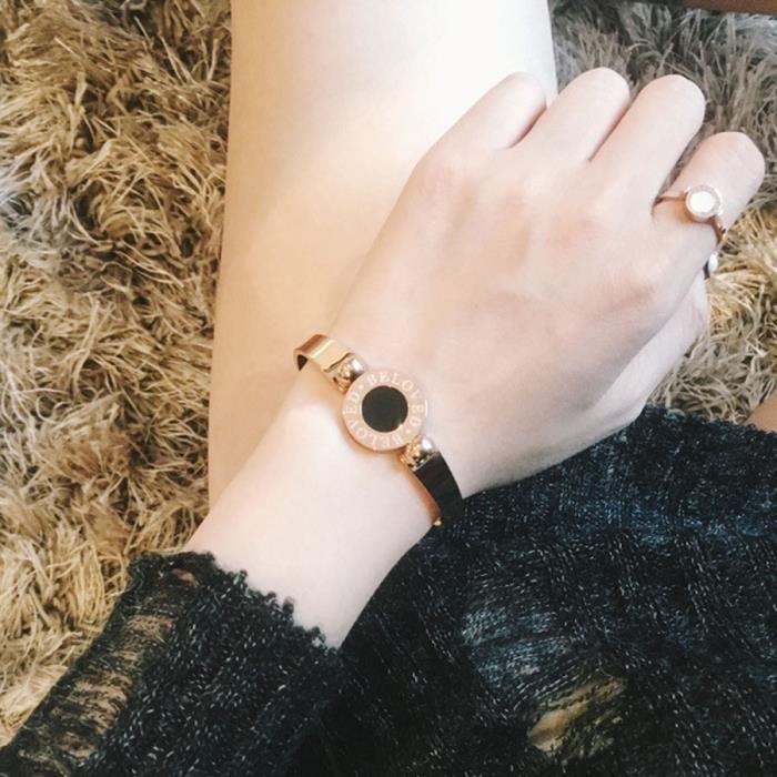 Modèles bracelet féminins mode Plaqué 18K or rose bracelet personnalité en titane bracelet en acier bijoux