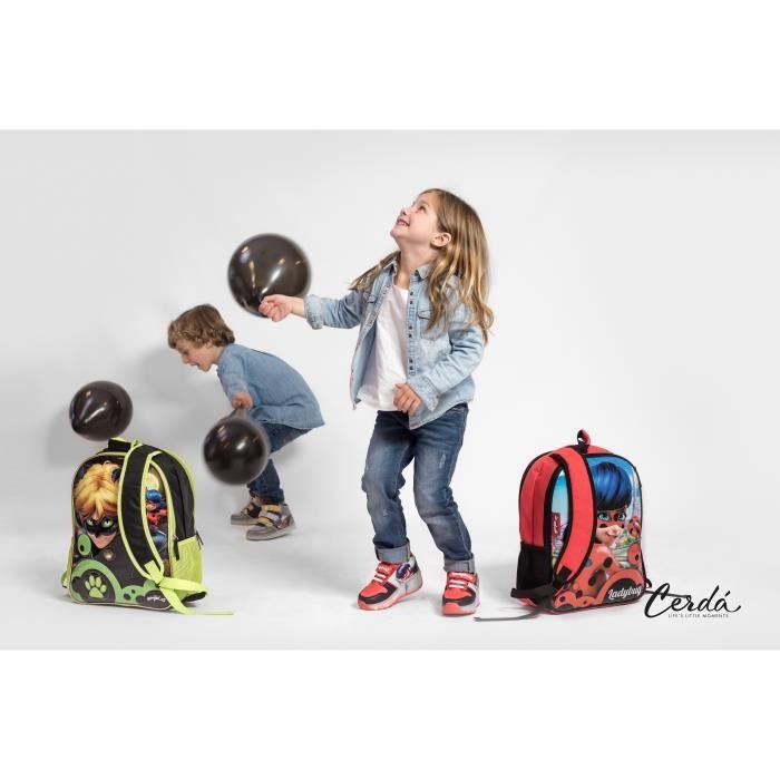 MIRACULOUS LADYBUG Baskets Hautes à LED et Roulettes - Enfant Fille - Rouge