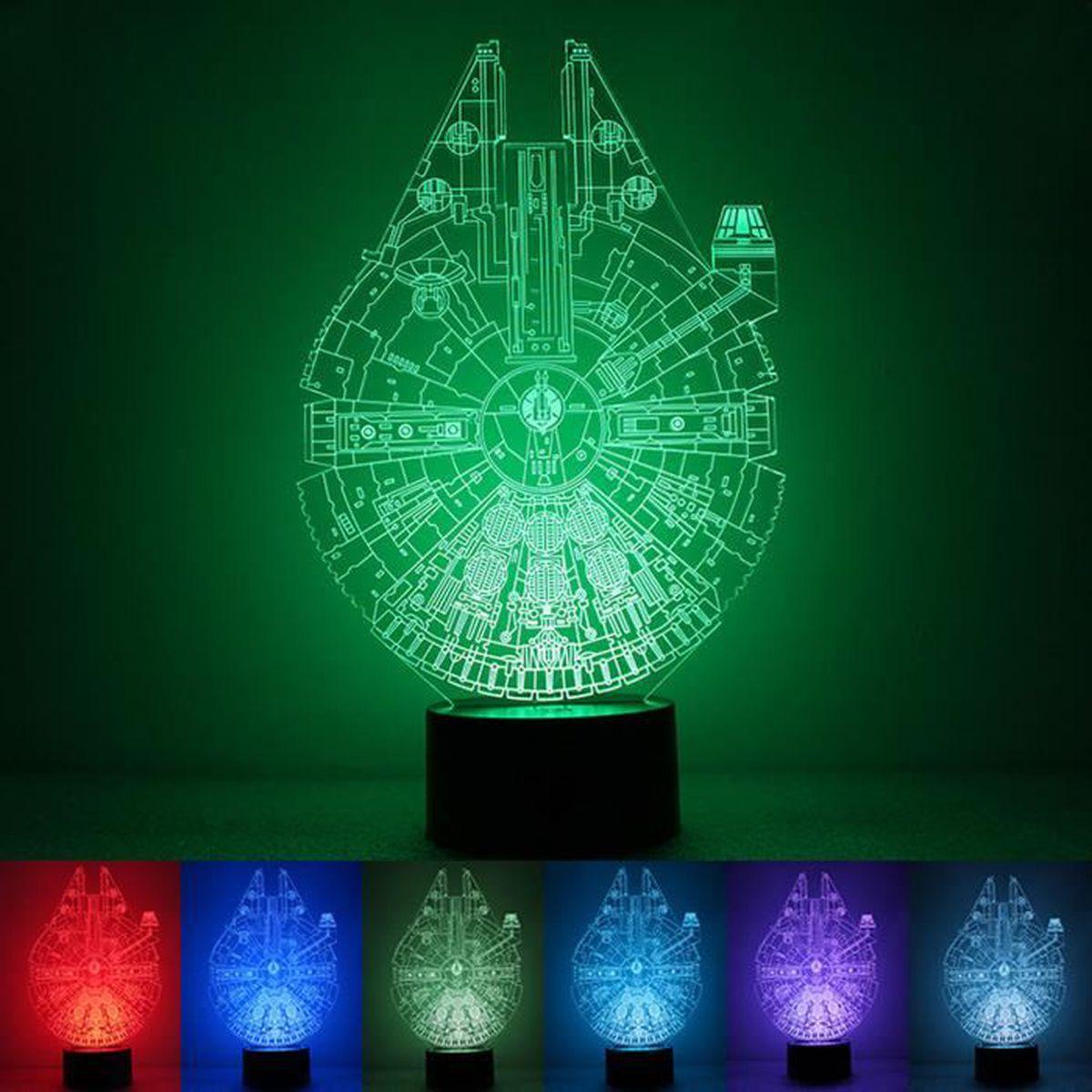 ebuy® lampe veilleuse 3d star wars lampe led pour enfant/bebe