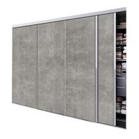 tixelia porte de placard coulissante beton 4 vantaux. Black Bedroom Furniture Sets. Home Design Ideas