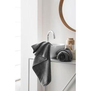 FINLANDEK Set de 2 Serviettes de toilette KYLPY 50x100 cm anthracite