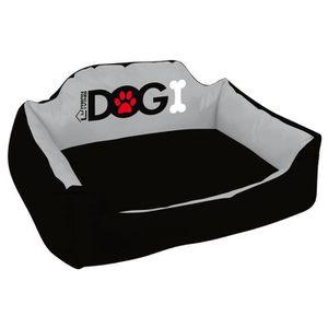 Panier molletonné Dogi 73x61x29 cm - Noir - Pour chien