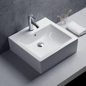 LAVABO - VASQUE Lavabo ou Vasque Murale en Céramique Moderne pour
