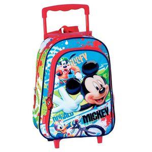 CARTABLE Sac à dos à roulettes maternelle Mickey Mouse 37 C